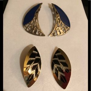 2 pair clip earrings